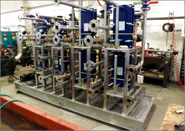 Multiple Vessel Heating and Cooling Skid Unit - L&G